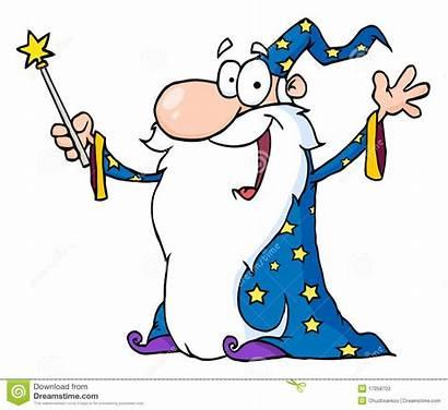 Wizard Wand Clipart Waving Holding Magic Clip
