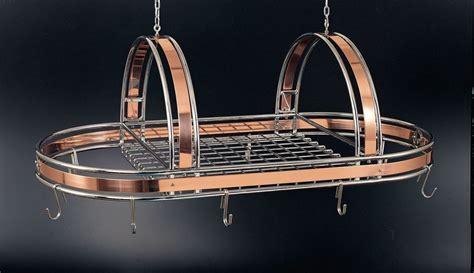 ruffoni copper chrome pot rack  ruffoni pot rack hanging pot rack hanging pots