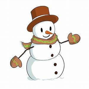 Cute Snow Man Clipart