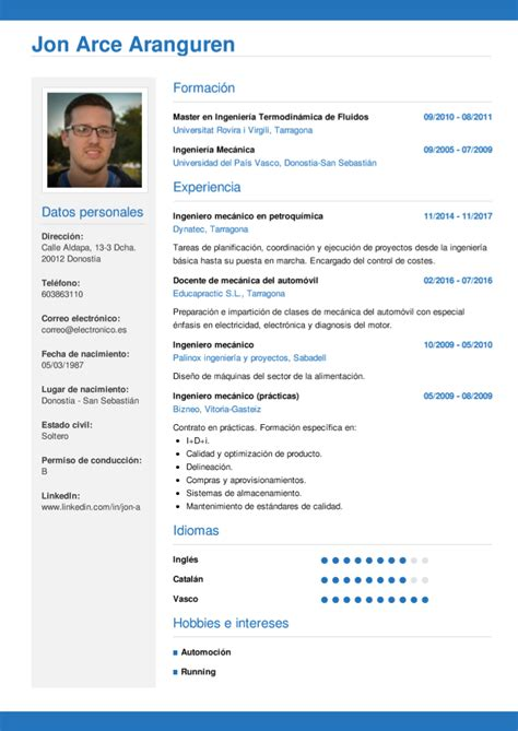 Cv Wizard by Modelo Curriculum Vitae Conductor Profesional