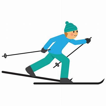 Skiing Cross Country Clipart Xc Emoji Clip