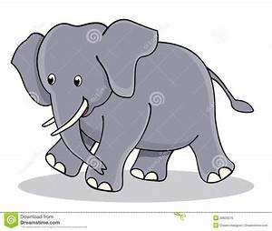 Cute baby elephant stock vector. Image of child ...