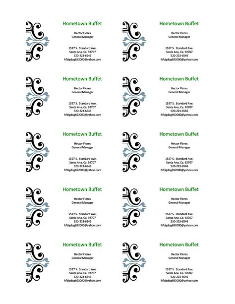 buisness card template word word business card template free business template