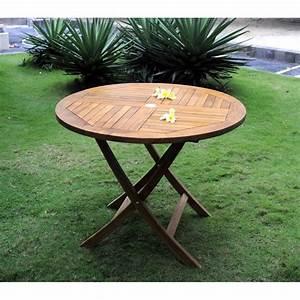 Table En Teck Jardin : table de jardin pliante en teck huil diametre 100 cm ~ Melissatoandfro.com Idées de Décoration