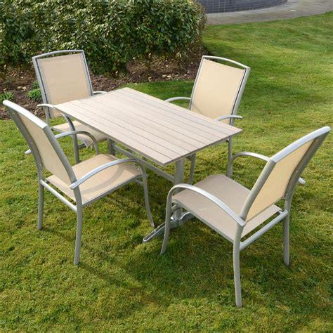 azuma naples 5pc table chairs garden outdoor dining