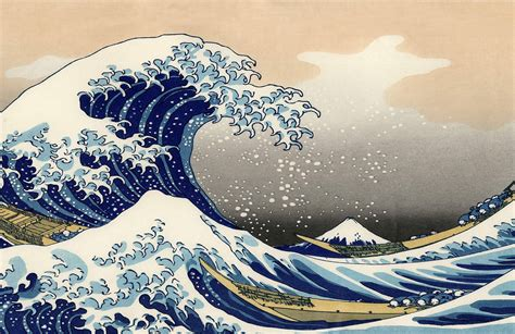 great wave  hokusai wall mural muralswallpapercouk