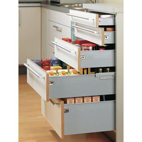 tiroirs de cuisine kit tiroir multitech hauteur 86 mm coulisse à galets