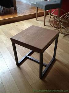 Table D Appoint Metal : table appoint bois metal atelier passion du bois ~ Teatrodelosmanantiales.com Idées de Décoration