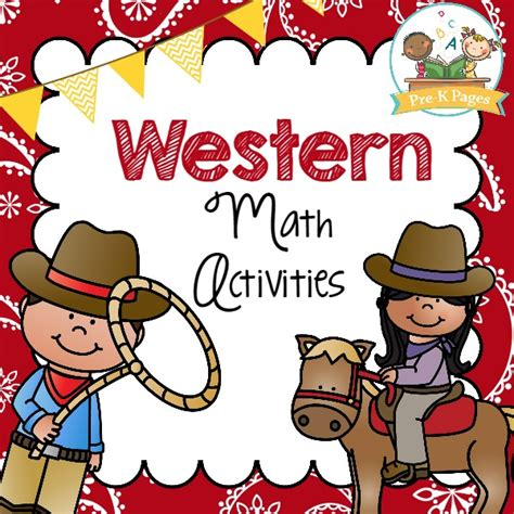 western theme for preschool western math activities pre k pages 976