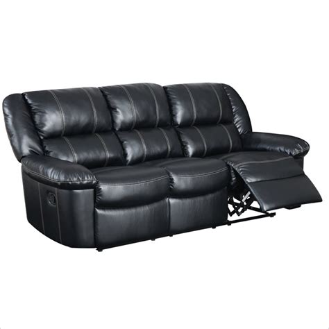 black leather reclining sofa global furniture usa 9966 reclining black leather sofa