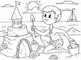 Sommer Sandcastle Zum Coloring Sand Castle Ausmalbilder Mayo Por Admin sketch template