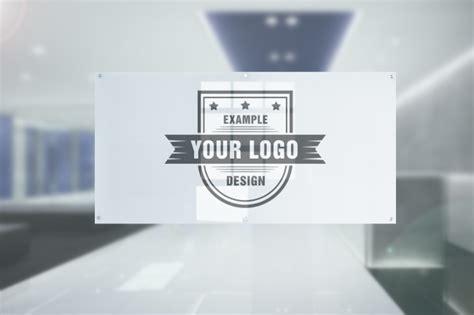 logo  office door glass plate effect mediamodifier