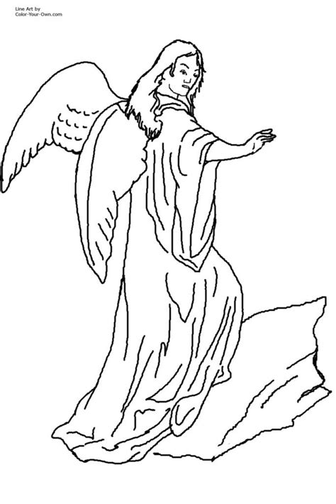 male guardian angel coloring page coloring home