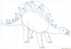 How to draw a stegosaurus | Step by step Drawing tutorials
