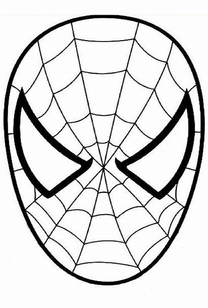 Spiderman Coloring Simple Pages Super