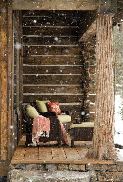 ideas  cabin christmas  pinterest