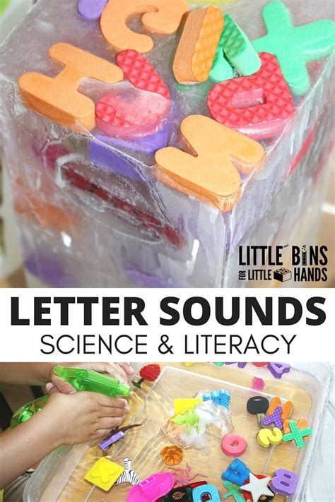 letter sounds activity and science experiment 453 | Letter Sounds Activity and Ice Melt Experiment for kids preschool literacy and science ideas