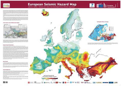 European seismic hazard map - Ecoclimax