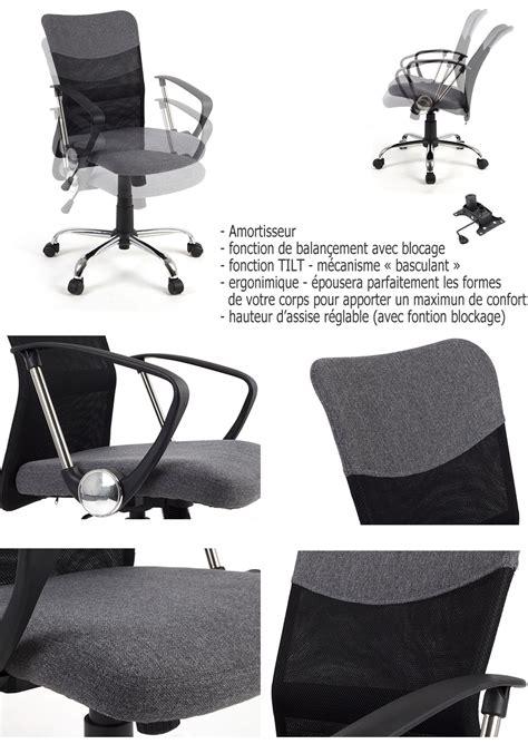 si e ergonomique conforama siège de bureau ergonomique avec support du dos tilt