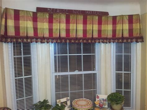 silk box pleated bay window valance lined and inner