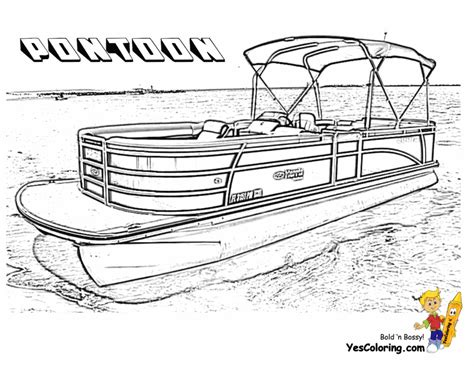 Pontoon Boat Pictures Free by Rugged Boat Coloring Page Boats Free Ship Coloring Pages
