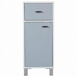Meuble Bas Porte : meuble bas 1 porte gloss gris ~ Edinachiropracticcenter.com Idées de Décoration