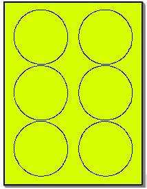 120 round neon labels 333 inch fluorescent yellow With avery 5295 template