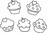 Cupcake Coloring Pages Printable Cute Cupcakes Drawing Getcolorings Print Getdrawings sketch template
