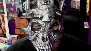 Triple H skull king replica mask unboxing - YouTube