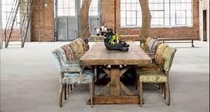 Dcoration Intrieure Industrielle Et Table De Ferme