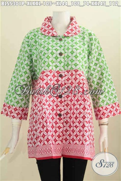 baju batik wanita dewasa  kombinasi warna cerah