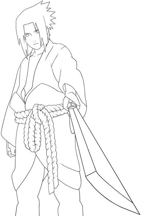 cool person sasuke coloring pages naruto