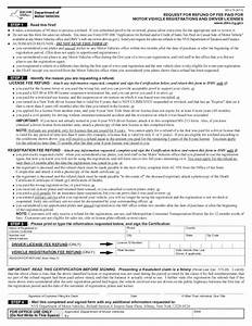 form mv 215 refund request of motor vehicle With documents needed for dmv drivers license