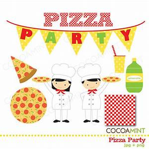 Pizza Party Clip Art by cocoamint on Etsy
