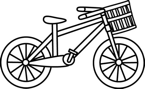 Valentine Car Decorations by Bike Black And White Clipart