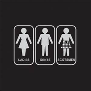 Scottish restroom sign restroom sign pinterest for Scottish bathroom signs