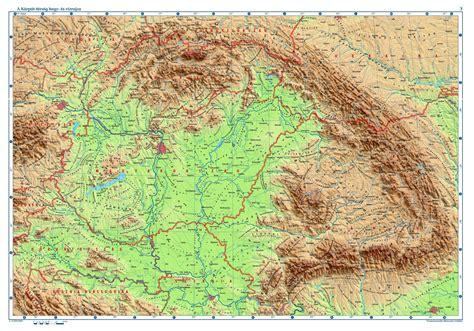 Mayer lászló és molnár andrás, szlovén fordítás: Nagy Magyarország Domborzati Térkép
