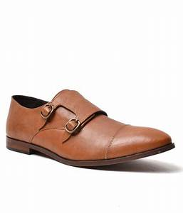 Carlton London Tan Leather Monk Shoes Price in India- Buy ...