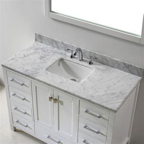 white marble vanity top eviva aberdeen 47 2 in w x 22 in d x 35 in h vanity in