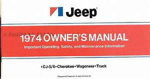 1974 Jeep Repair Shop Manual Original