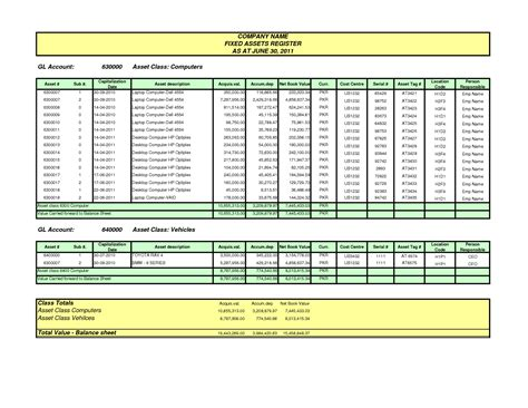 fixed asset disposal form excel template