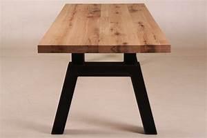 AGAN Esstisch Industriedesign Holz Metallbeine Alle