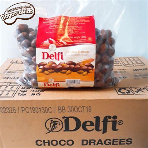 coklat delfi almond kartonan isi kg bogor coklat snack