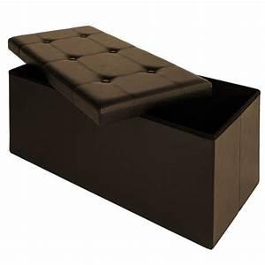 Tabouret Avec Rangement : tabouret banc avec coffre bo te de rangement si ge 80x40x38cm m ~ Teatrodelosmanantiales.com Idées de Décoration