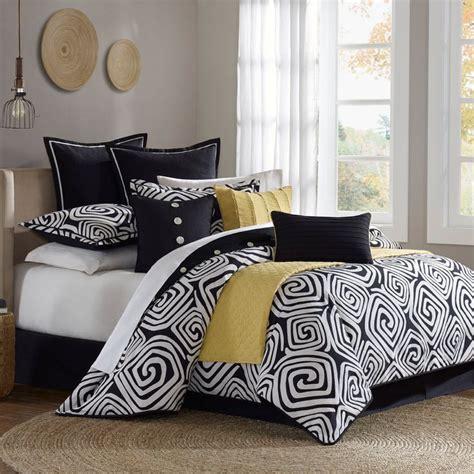 black white yellow comforter set google search