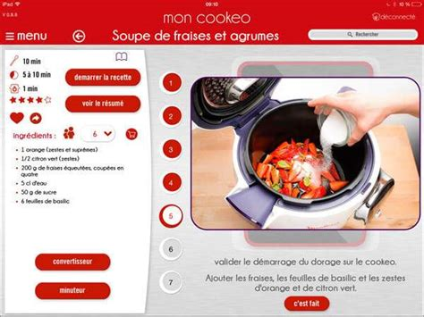 application recette cuisine mon cookeo l 39 application cookeo multicuiseur cookeo