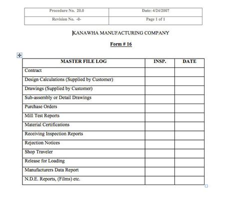 job traveler form template