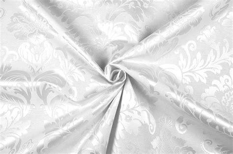 Outdoordekostoff  Barock Ornament  Weiß  Online Kaufen