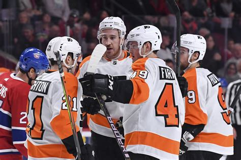 standout players  flyers overtime win  canadiens