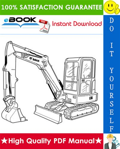 bobcat  compact excavator service repair manual operation maintenance manual